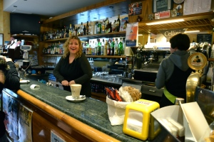 Tuscan bar with two baristas