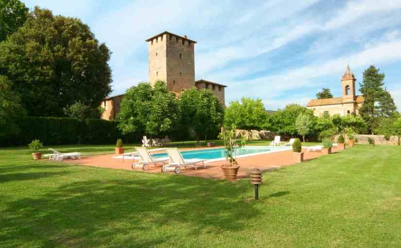 Castle, pool, garden