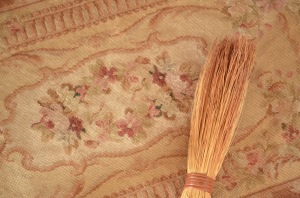 rug and brush