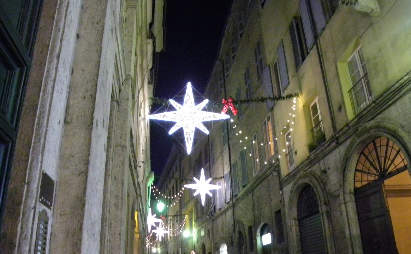 Christmas decorations in Siena